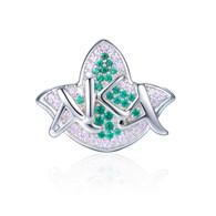 New AKA Pink & Green Ivy and Diamond Heirloom Bead Charm