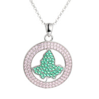 Pink and Green AKA Circle Ivy Pendant