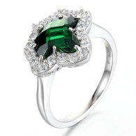 Emerald and Diamond Ivy  Ring