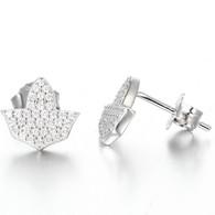 Ivy Shaped Diamond Earrings
