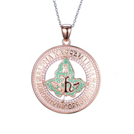 Rose Gold Alpha Kappa Alpha Medallion