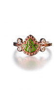 New Rose Gold and Enamel Ivy Ring