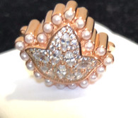 New Rose Gold  Ivy Diamond and Pearls Bead Charm