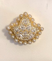New 14 KT Gold  Ivy Diamond and Pearls Bead Charm