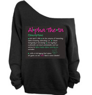 Alpha Theta Off shoulder Sweat Shirt