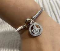 Cable Hook close AKA Sorority Charm bracelet