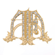 Ivy and Pearls AKA Victorian Monogram Brooch