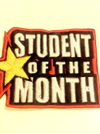 """High-quality """"Student of the Month"""" patch from TIGER CLAW Approx. 3.5"""" wide X 2.375"""" high."""