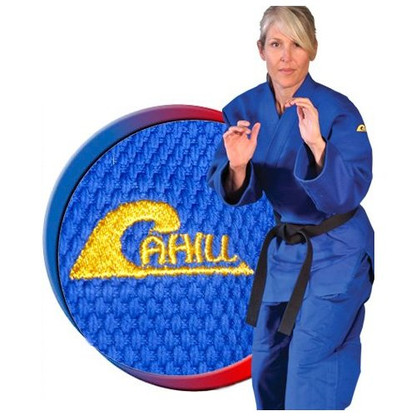 Cahill's newly designed Double Weave Classic Elite Judo Uniform. This uniform was specially designed by Olympic Judo Coach Willy Cahill and is the official uniform for the USABA National Judo Team. The draw-string pants have a two-ply construction on the front side running almost its entire length from the thigh to the cuff. Stronger stitching methods are used where it counts, especially in the grappling areas of the lapel and chest. Enhanced re-enforcement is sewn in to decrease chances of wear and tear. Interlocked stitching can also be found along the major seams that undergo extreme pulling forces like the backside of the jacket and down the sleeves as well as in the armpits and crotch area.