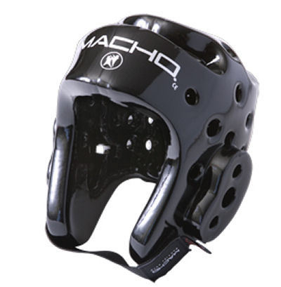 "The Dyna Line is Macho's most popular sparring gear and is the industry standard. High-quality 7/8"" foam head gear features ear-release canals for added protection to eardrums during sparring. Dyna's design provides air flow through the head gear, and protects the top of the head while also allowing heat to escape. Accessories such as the Dyna Face Shield and Dyna Cage can be added for additional face protection without sacrificing peripheral vision. Dyna is known throughout the industry to be a top quality economical brand with dependable performance."