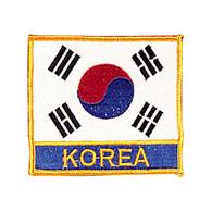 """Korean Flag Patch with """"Korea"""""""