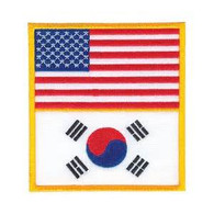 USA and Korea Flag Patch