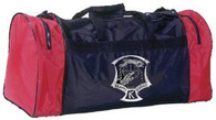 "Kenpo Gear Bag. Official Ed Parker Kenpo Karate bag, complete with registered trademark logo. Sturdy nylon construction with a protective lined interior. Two vented, zipper-closure end compartments and one internal zippered pouch in the double-zippered main compartment. Padded shoulder strap includes special ""cell phone"" pouch. 26"" x 11"" x 13""."