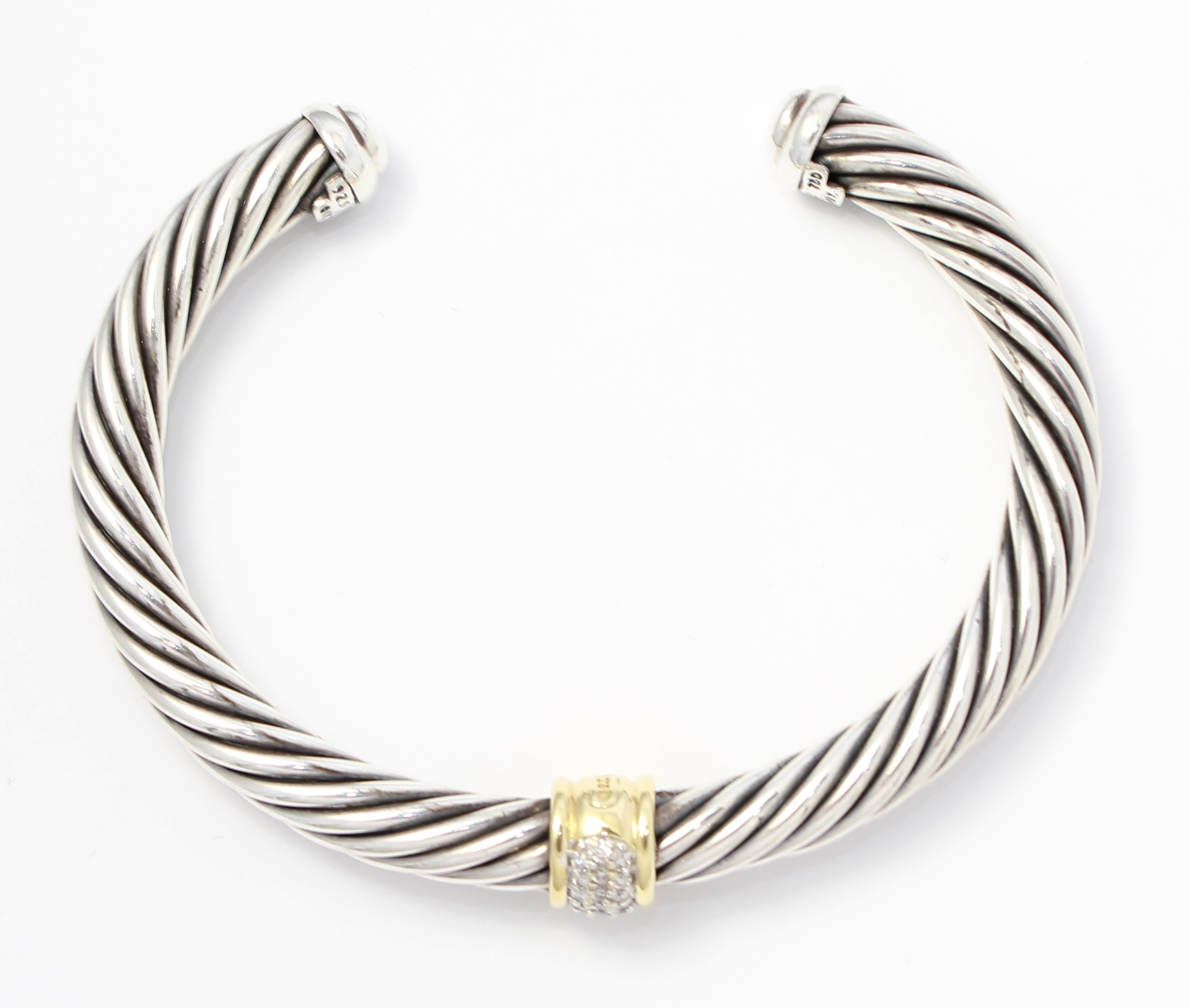 david yurman 18k gold silver 7mm cable classics cuff