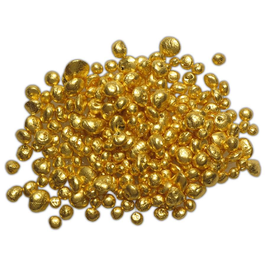 1 Gram 24k 9999 Refined Pure Gold Grain Shot Casting