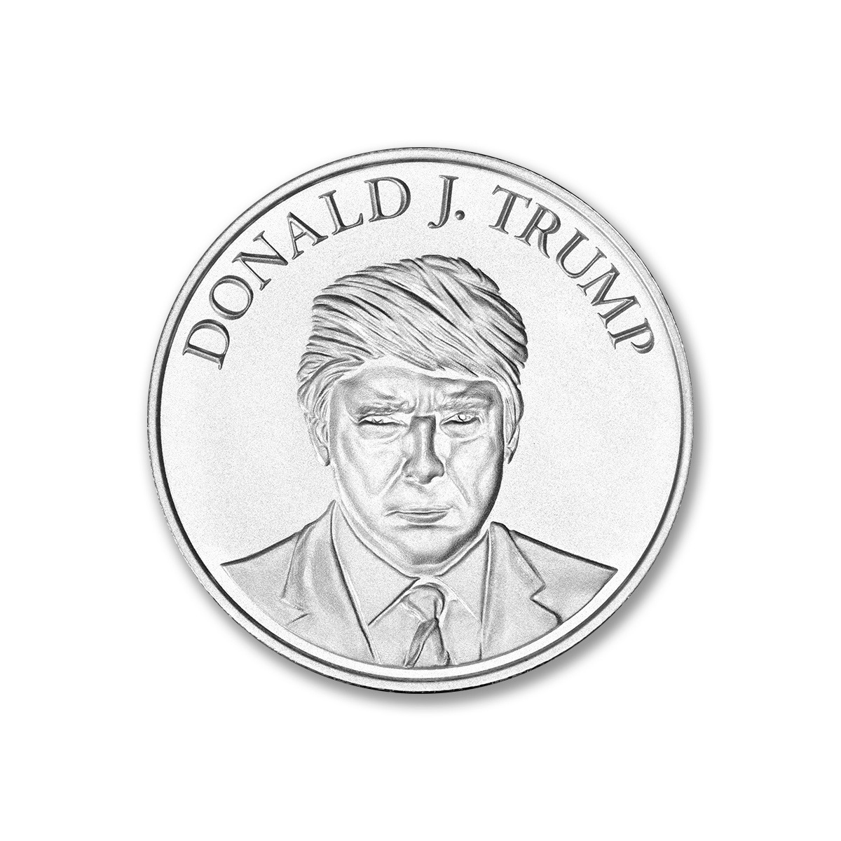 1 Troy Ounce 999 Fine Silver Donald J Trump Seal Of The