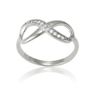 Infinity Ring with Cubic Zirconia