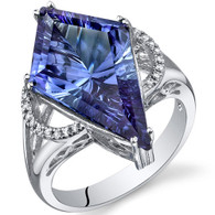 Kite Shape 9.00 Carats Alexandrite Sterling Silver Ring