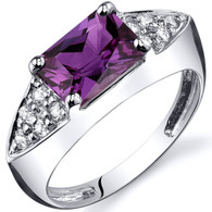 Sleek Sophistication 2.00 carats Alexandrite Sterling Silver Ring