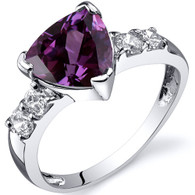 Solitaire Style 2.50 carats Alexandrite Cubic Zirconia Sterling Silver Ring