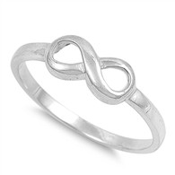 Small Sterling Silver Infinity Ring