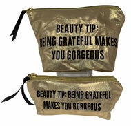 Beauty Tip:  Being Grateful Makes You Gorgeous - GOLD pouch