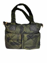 Camo Puffer Tote Bag