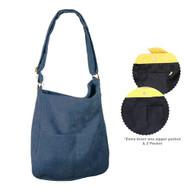 Corduroy Crossbody Bag - Blue