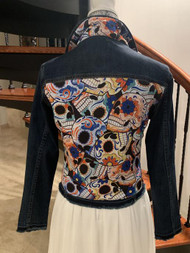 Sugar Skull / Dark Denim Jacket