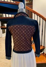 LV Brown  / Dark Denim Jacket