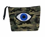 Evil Eye Camo Pouch - Canvas