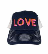 LOVE Hat - BLACK Trucker