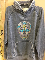 Zen Fleece Sweatshirt with Skull Design