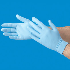 Rubber Gloves (Blue Nitrile- Powder Free)