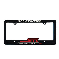 Custom Raised-Letter Plastic License Plate Frames