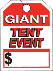 Mirror Hang Tags (Jumbo) Giant Tent Event