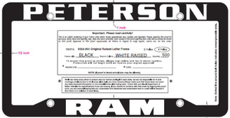 Peterson RAM Frame: 250 qty