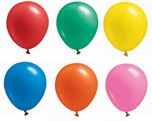 "17"" Assorted Latex Balloons - 72 per bag"
