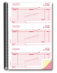 3-Part Credit Memo Books Form# RL-113 - IMPRINTED