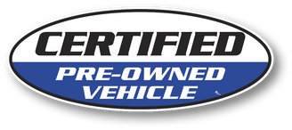 Certified Pre-Owned Vehicle Window Stickers -  Four Colors to Choose From