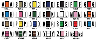 Color-Code Alphabet Labels