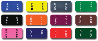 Color-Code Month Labels   Ringbook   FULL SET