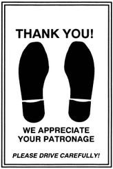 Foot Print Paper Floor Mats