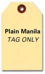 Manila Key Tags   Tag Only No Rings