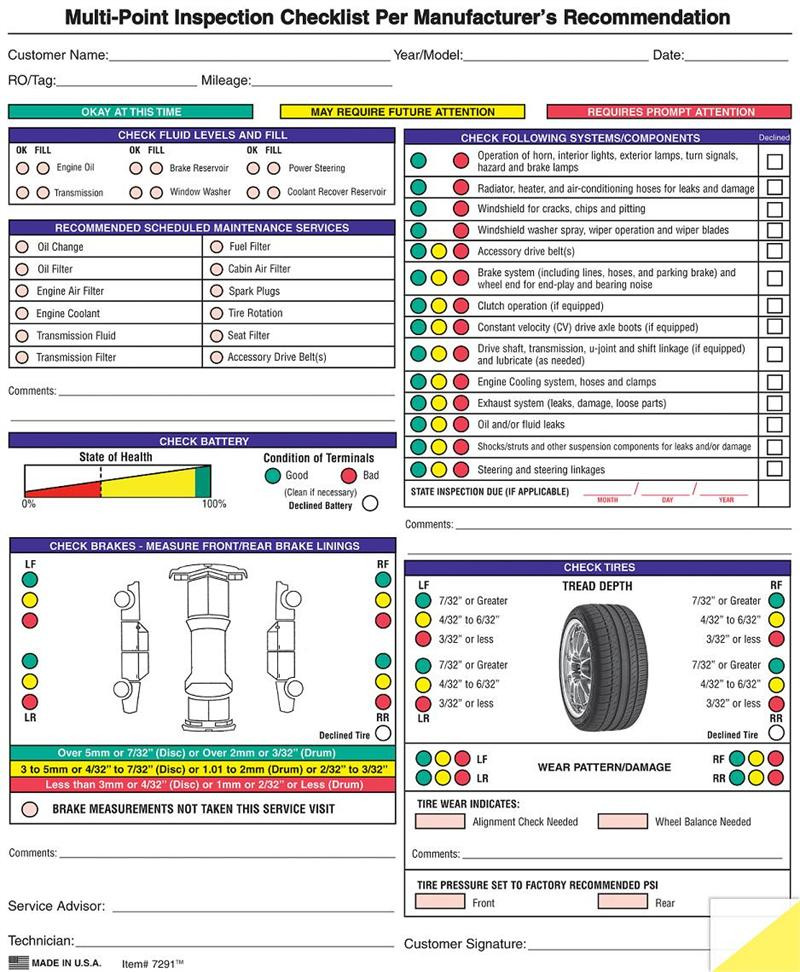 Generic Multi Point Inspection Form