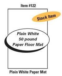 Plain White Paper Floor Mats