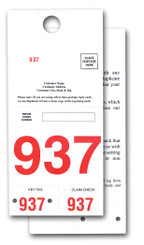 Post Card Reply Numbers - Red 3 Digit