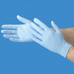 Rubber Gloves (Blue Nitrile - Powdered)