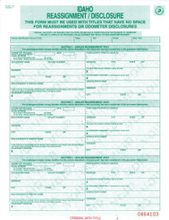 Title Reassignment Form: (IADA-13)