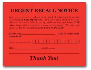 Urgent Recall Notice